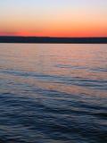 苏必利尔湖畔日落 库存照片