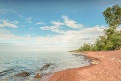 苏必利尔湖,猎人点公园, MI 免版税图库摄影