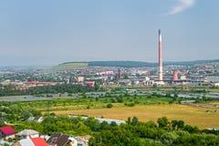 苏恰瓦市工业区  免版税库存照片