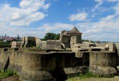 苏恰瓦Fortress-古老罗马尼亚城堡 免版税库存照片