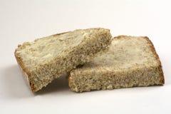 苏打面包切片用黄油 免版税库存照片