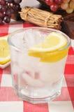 苏打水用柠檬 免版税库存照片