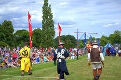 苏格兰中世纪脚战斗机 免版税库存照片