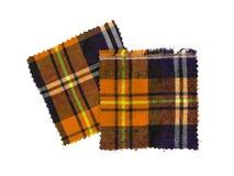 苏格兰人被检查的织品 免版税库存照片