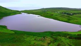 苏格兰从上面-飞行高地在风景和著名地标的 影视素材