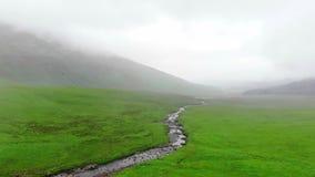 苏格兰从上面-飞行高地在风景和著名地标的 股票视频