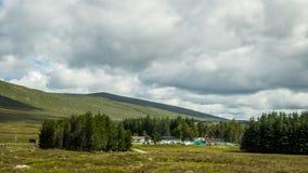 苏格兰低地的一个农村风景苏格兰的,英国 库存照片