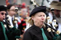 苏格兰吹笛者 库存图片