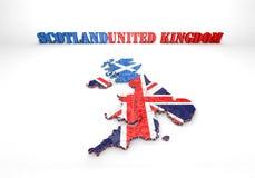 苏格兰和英国的地图例证 免版税库存图片