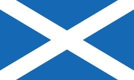 苏格兰圣安德鲁斯十字架或Saltire亦称旗子  免版税库存照片
