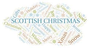 苏格兰圣诞节词云彩 皇族释放例证