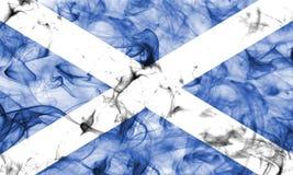 苏格兰在白色背景隔绝的烟旗子 免版税库存图片