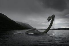 苏格兰尼斯湖怪物 免版税库存照片