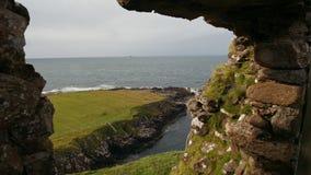 苏格兰岩石海景,斯凯岛,苏格兰,英国小岛  股票录像