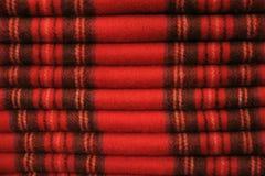 苏格兰格子呢围巾 库存图片