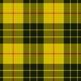 苏格兰格子花呢披肩,在黄色的黑带 麦克劳德格子呢无缝的p 免版税图库摄影