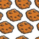 苏格兰烹调巧克力饼干无缝的样式面包店 向量例证