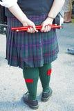 苏格兰爱尔兰节日参加者 免版税库存照片