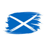 苏格兰的传染媒介旗子 苏格兰的国庆节传染媒介例证 在时髦难看的东西样式的苏格兰旗子 设计模板为 库存照片
