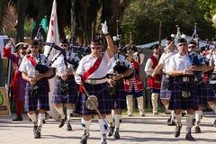 苏格兰的吹笛者 免版税库存照片
