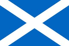 苏格兰的简单的旗子 向量例证