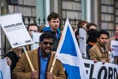 苏格兰的自豪感 库存照片