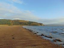 苏格兰的西海岸在晚上太阳 库存照片