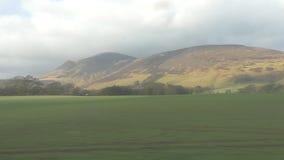 苏格兰的风景直达车窗口 股票视频