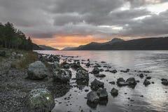 苏格兰的高地的奈斯湖 库存照片