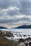 苏格兰的高地的奈斯湖 免版税库存照片
