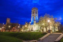 苏格兰礼拜式大教堂在街市印第安纳波利斯 图库摄影