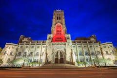 苏格兰礼拜式大教堂在街市印第安纳波利斯 免版税图库摄影