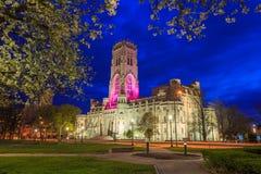 苏格兰礼拜式大教堂在街市印第安纳波利斯 免版税库存图片