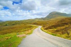 苏格兰窄路高地环境美化,英国 库存图片