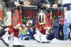 苏格兰管子带 免版税图库摄影