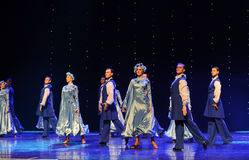 苏格兰舞厅舞蹈乌克兰异乎寻常的这奥地利的世界舞蹈 免版税库存照片
