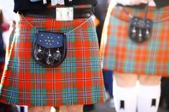 苏格兰苏格兰男用短裙 免版税图库摄影