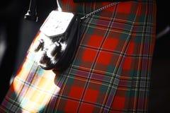 苏格兰苏格兰男用短裙 图库摄影