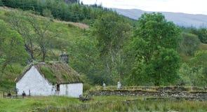 苏格兰被放弃的村庄的高地 库存图片