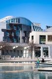 苏格兰议会, Holyrood,爱丁堡 图库摄影