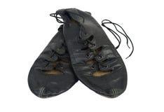 苏格兰软的跳舞鞋子 免版税库存图片