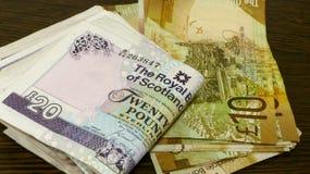 苏格兰金钱 免版税库存照片