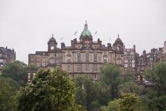 苏格兰银行的总店在中央爱丁堡 免版税库存照片