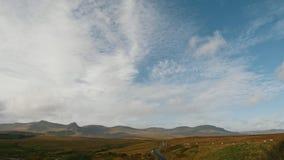 苏格兰高地使-小组在山的绵羊-英国,定期流逝环境美化 影视素材