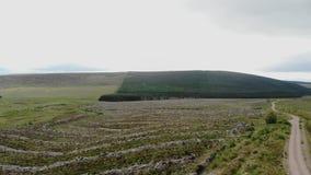苏格兰高地的典型的风景-空中寄生虫英尺长度 股票录像