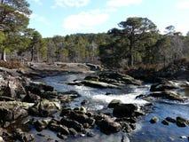 苏格兰高地的河Affric 库存照片
