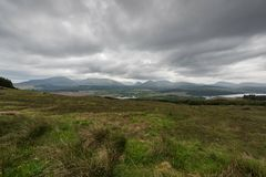 苏格兰高地苏格兰,英国 库存照片