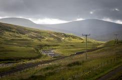 苏格兰高地谷 免版税库存图片