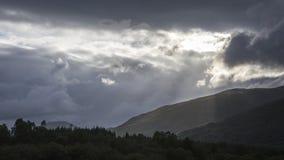 苏格兰高地谷 免版税图库摄影