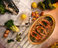 苏格兰鲑鱼排 免版税图库摄影